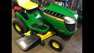 How to operate a John Deere E140 Lawn Tractor
