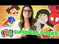 Ms Booksy Meets SUPERHEROES! Story Time with Ms. Booksy | ALL Superhero Stories | Cartoons for kids