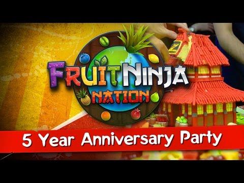 5 Year Anniversary Party! - FRUIT NINJA NATION - 동영상