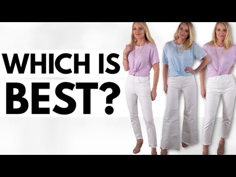 Testing 12 Pairs Of *WHITE JEANS* So You Don't Have To! (Fashion Over 40, Style Over 50, Outfits)