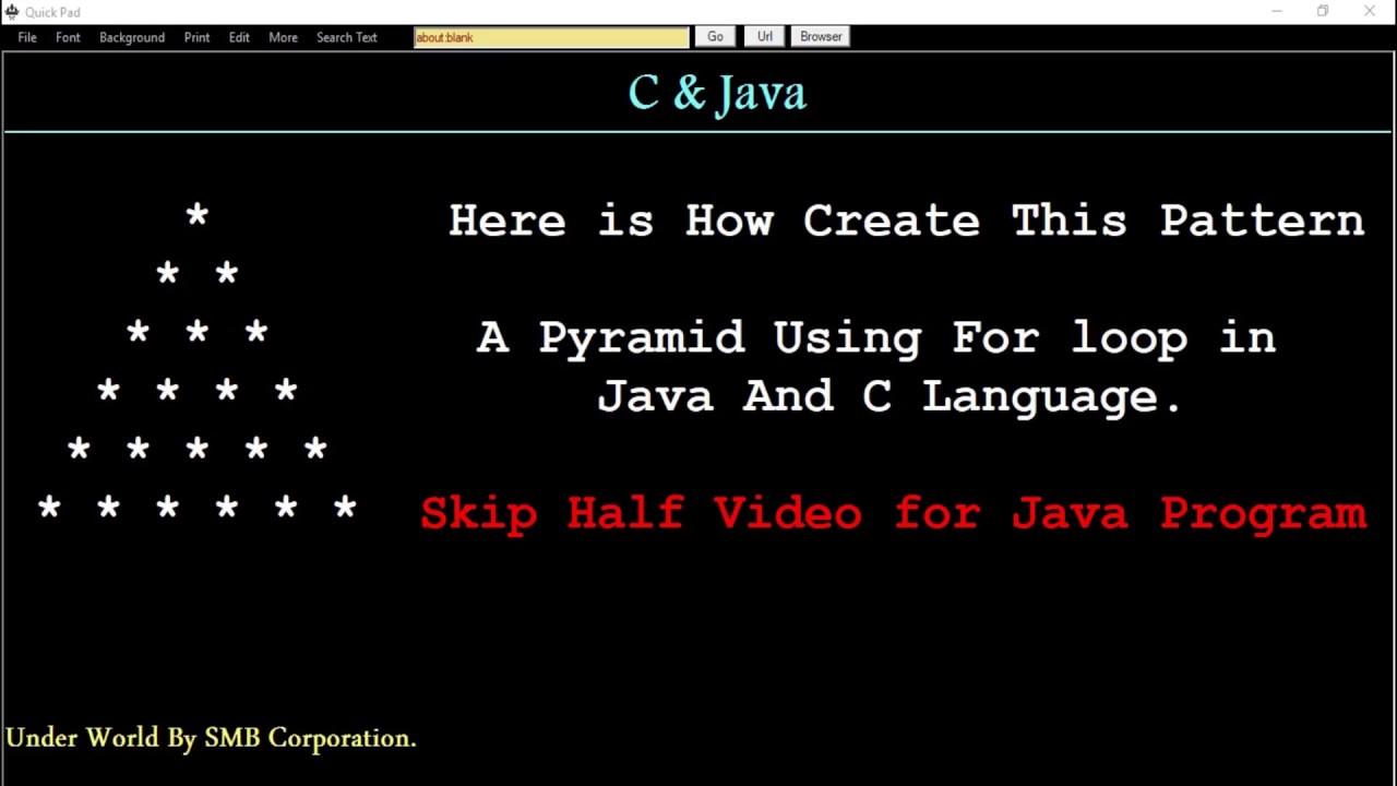 java pattern programs pdf