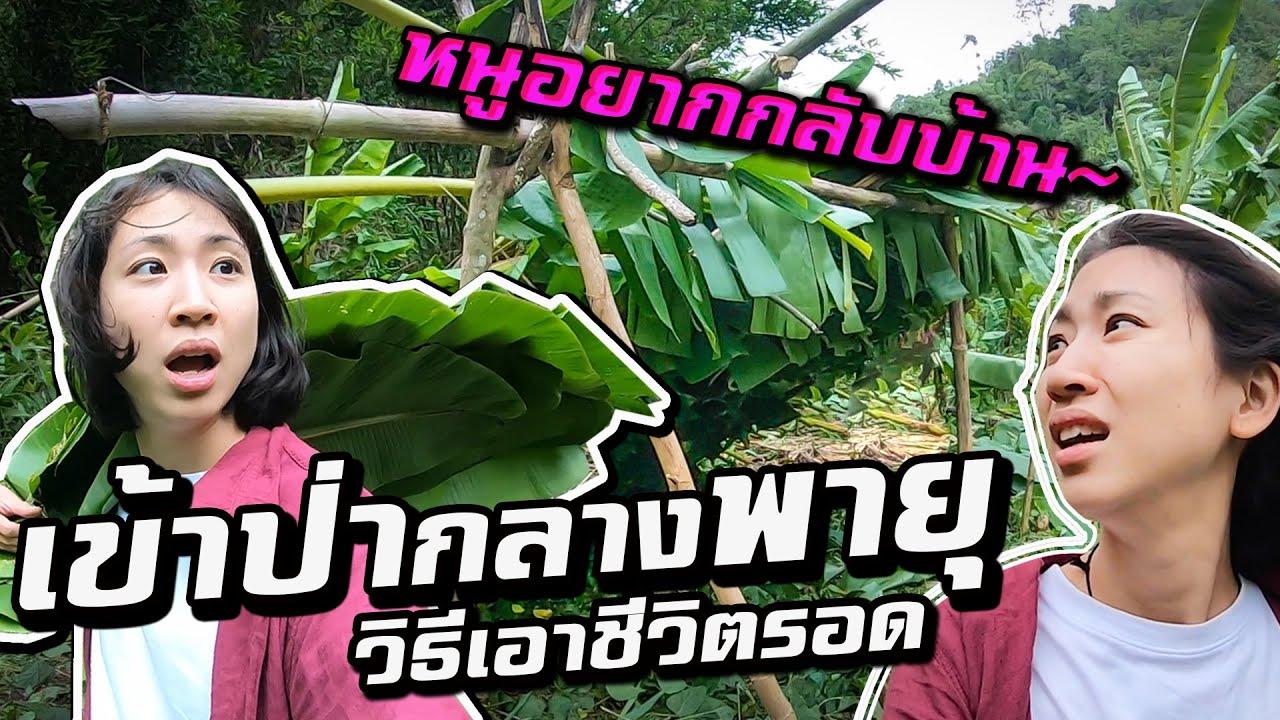 ตาก- เข้าป่ากลางพายุ สร้างเพิงกล้วยหลบฝน Ep.2 | Build a tree hut in the Storm