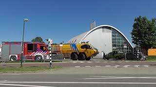 Brandweer vliegbasis Gilze-Rijen vertrekken vanaf de Veiligheidsdag Houten 2019