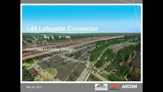 Pre and Post Tensioned Design of Concrete U Girders (I-49 Lafayette Connector)
