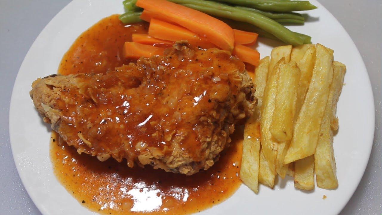 Resep Steak Ayam Saus Barbeque