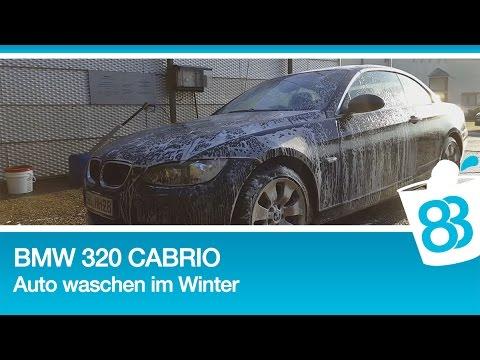 bmw 320 cabrio auto waschen im winter presto autopflegeprodukte youtube. Black Bedroom Furniture Sets. Home Design Ideas