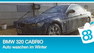 bmw 320 cabrio auto waschen im winter presto. Black Bedroom Furniture Sets. Home Design Ideas