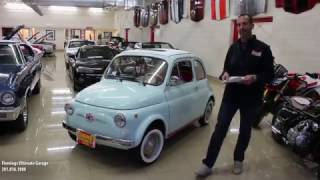 1966 FIAT 500F CABRIO for sale with test drive, driving sounds, and walk through video