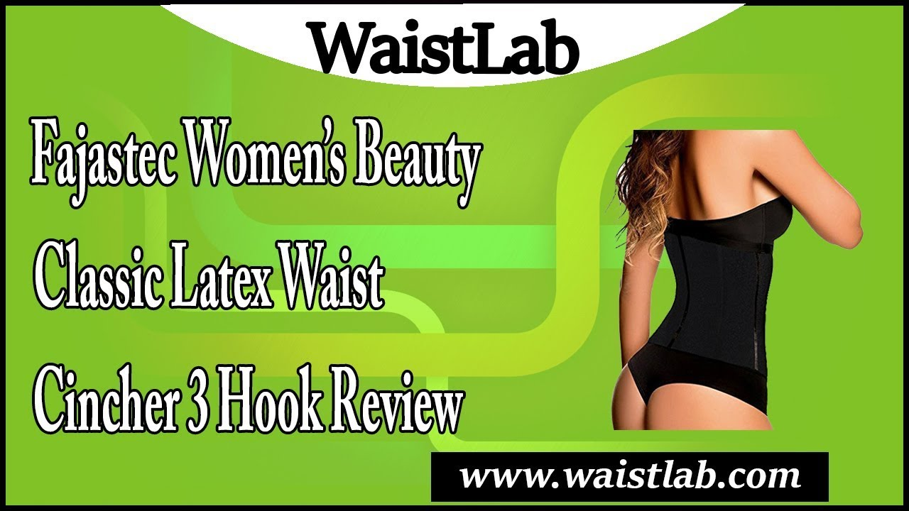 0394f824dcced Fajastec Women s Beauty Classic Latex Waist Cincher 3 Hook Review ...