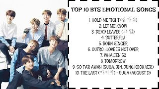 [PLAYLIST] TOP 10 BTS EMOTIONAL SONGS