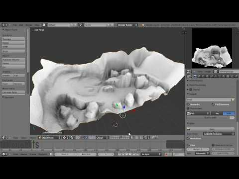 Terrain & Baking Ambient Occlusion in Blender (HD)