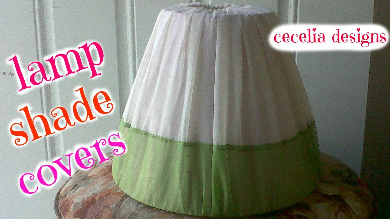 How to cover a lampshade with fabriclamp shades covers youtube aloadofball