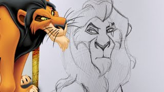 How to Draw SCAR from Disney's The Lion King- @dramaticparrot(BE PREPARED! I was seeing a lot of