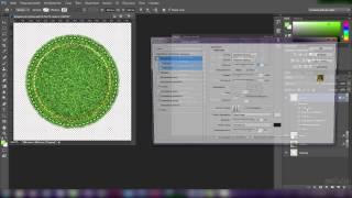 """Коврики из травы. Урок Photoshop в CS6. Шов и кисти """"бахрома"""",""""стежки"""""""