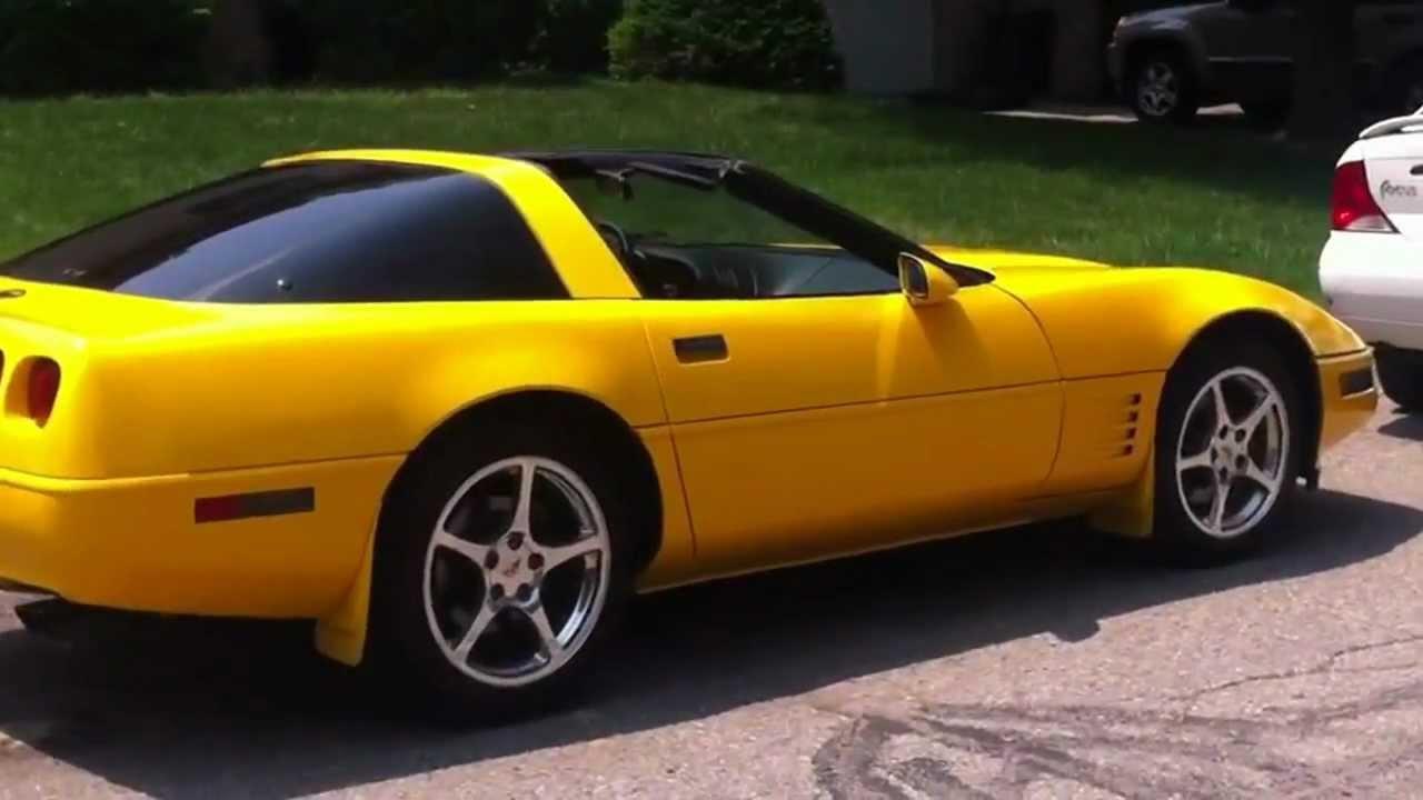 1991 Corvette Comp Yellow Paint Youtube