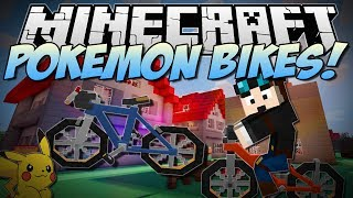 Minecraft | POKEMON BIKES! (Beautiful Bicycles in Minecraft!) | Mod Showcase [1.6.4]