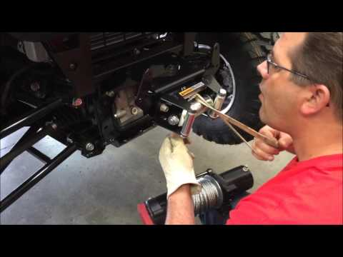 how to install a winch mount on a kawasaki mule pro-fxt - youtube