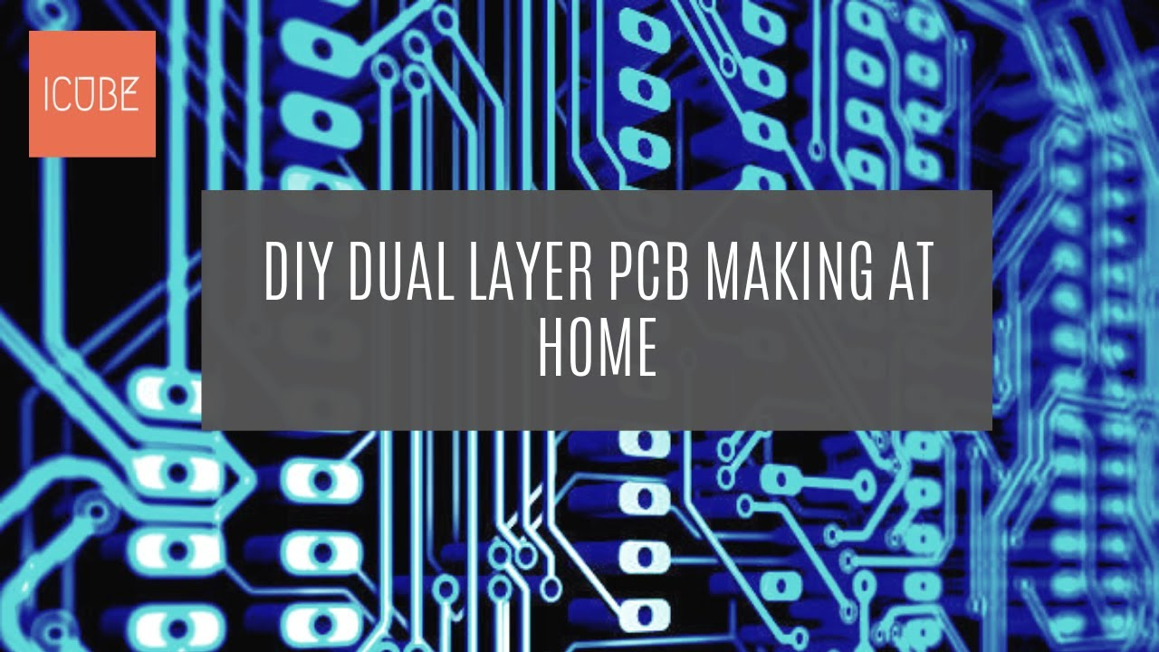 DIY dual layer pcb making at home | double sided pcb making at home |  double sided pcb making