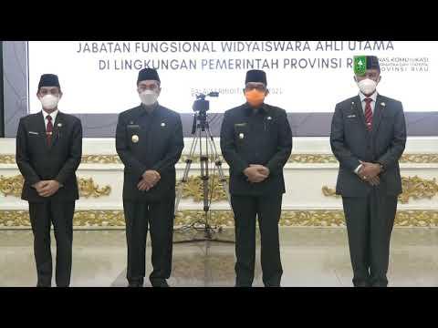 Pelantikan Dan Pengambilan Sumpah Jabatan Pejabat Fungsional Di Lingkungan Pemerintah Provinsi Riau