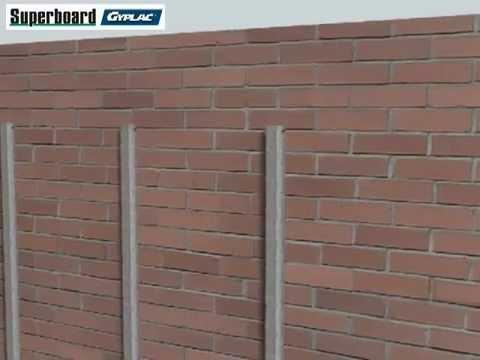 Instalaci n de recubrimientos en paredes con l minas de yeso y superboard youtube - Revestir pared exterior ...