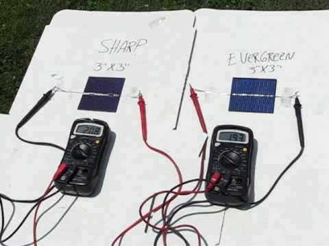 Solar Cell Test Sharp And Evergreen 3x3 Pv C 233 Lulas Solares
