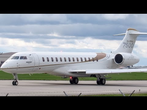 Bombardier Aerospace Global 7500 (GL7T) departing Montreal (YUL/CYUL)