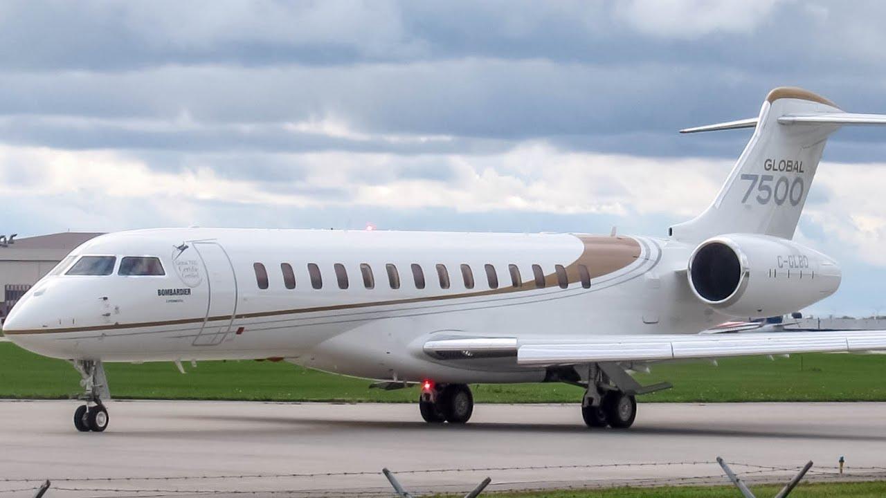 Arr Aeroe Global 7500 Gl7t Departing Montreal Yul Cyul