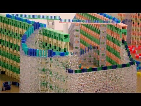 GIANT Domino City! (Hevesh5 & ShanesDominoez)