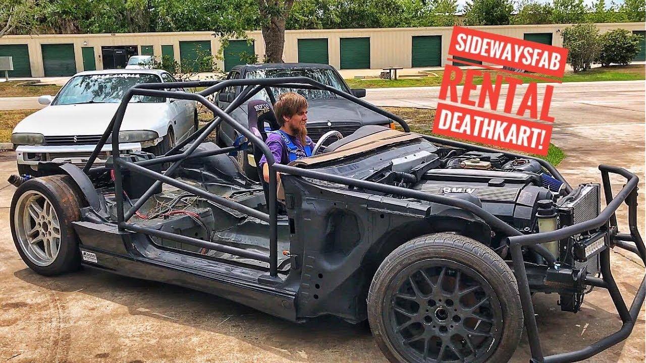 Sideways Fab Rental Deathkart E36 Drift Car Episode 25