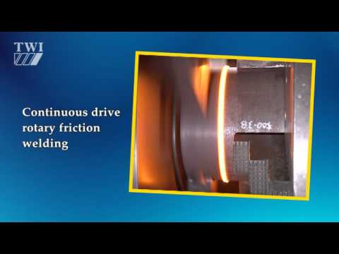 Continuous drive friction welding