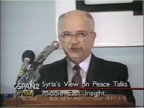 Mouaffak al Allaf/Middle East peace talks Mar,06 1992