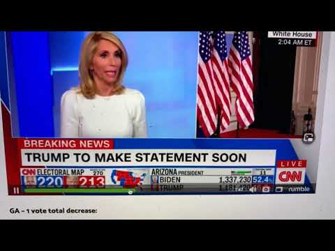 Stupid To Base Trump Vote Counting Problem On CNN; Secretary Of State Counts Votes, Not TV Anchors