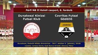 NBII: Dunakeszi Kinizsi - Covritas Futsal Gödöllő 6-3 (2017.10.06, összefoglaló)