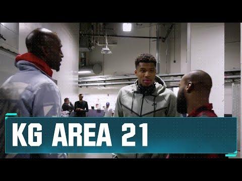 KG & Baron Davis at Bucks vs. Warriors in Oracle! | KG Area 21