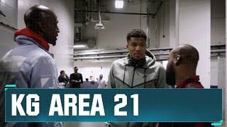 KG & Baron Davis at Bucks vs. Warriors in Oracle! | KG Area 21