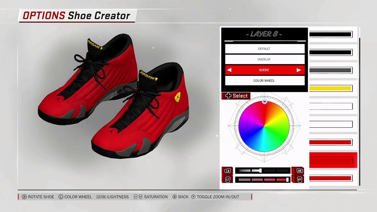 NBA 2K18 Shoe Creator - Air Jordan 14