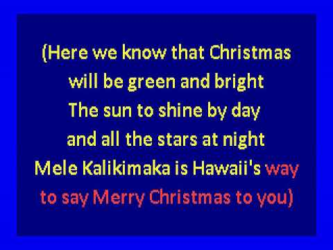 Bing Crosby And Andrews Sisters - Mele Kalikimaka (Hawaiian Christmas Song) (karaoke)
