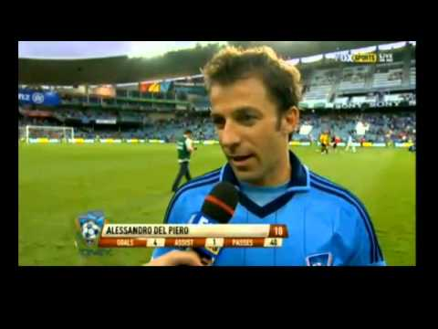 Del Piero FOUR Goals and Interview | SYDNEY FC vs WELLINGTON 7-1 19-1-2013 | HD