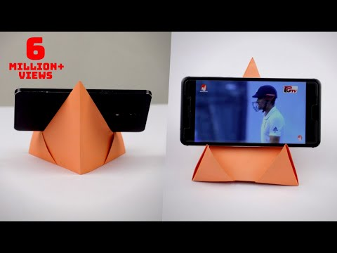 How To Make Paper Mobile Stand Without Glue || DIY Origami Phone Holder