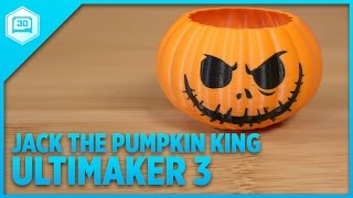Jack The Pumpking King - Ultimaker 3 Dual Extrude #3DPrinting #madebythenewUltimaker