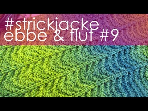 "nadelspiel StriMiMi April 2016 * Strickjacke ""Ebbe & Flut"" * Teil 9 * Ausfertigung Kurzjacke"