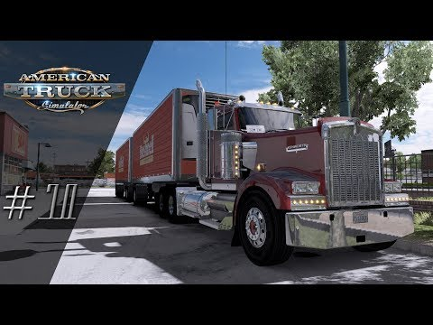 'Lets Play' American Truck Simulator - First Double Delivery - #70