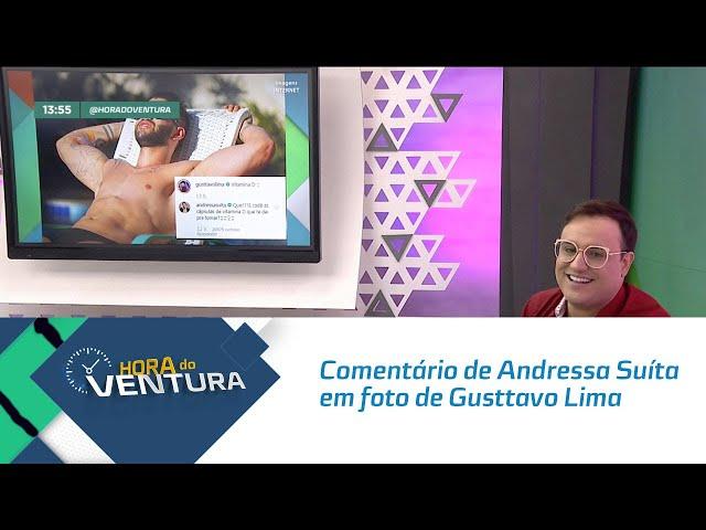 Comentário de Andressa Suíta em foto de Gusttavo Lima nas redes sociais faz sucesso - Bloco 01