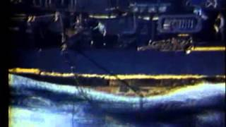 Japanese Air Attack on Task Force, This film shows the USS Wisconsin (BB-64) under a simulated a...