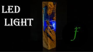 Wood and Resin Light