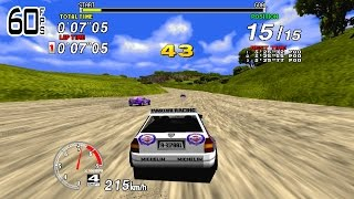 Sega Rally - 1cc - Hardest - 60FPS (No commentary)