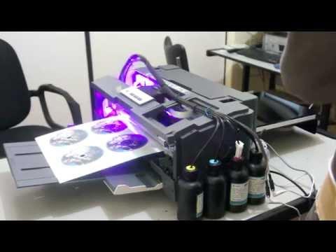 IMPRESSÃO EM CD COM DIY UV LED PRINTER EPSON T1110