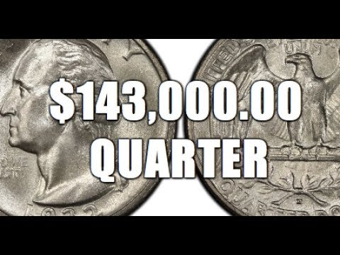 Quarter Sells For $143,000 00! Why?! Extremely Rare Washington Quarter!!!