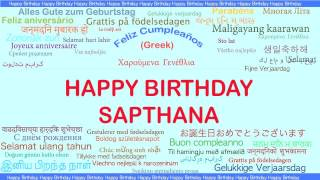 Sapthana   Languages Idiomas - Happy Birthday