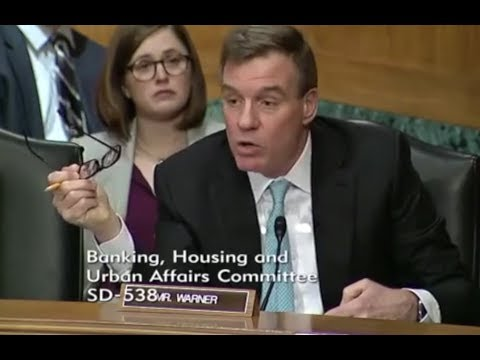 Bitcoin is Blockchain - Mr. Warner - Feb 6th - Senate on Banking (bitcoin, investing)